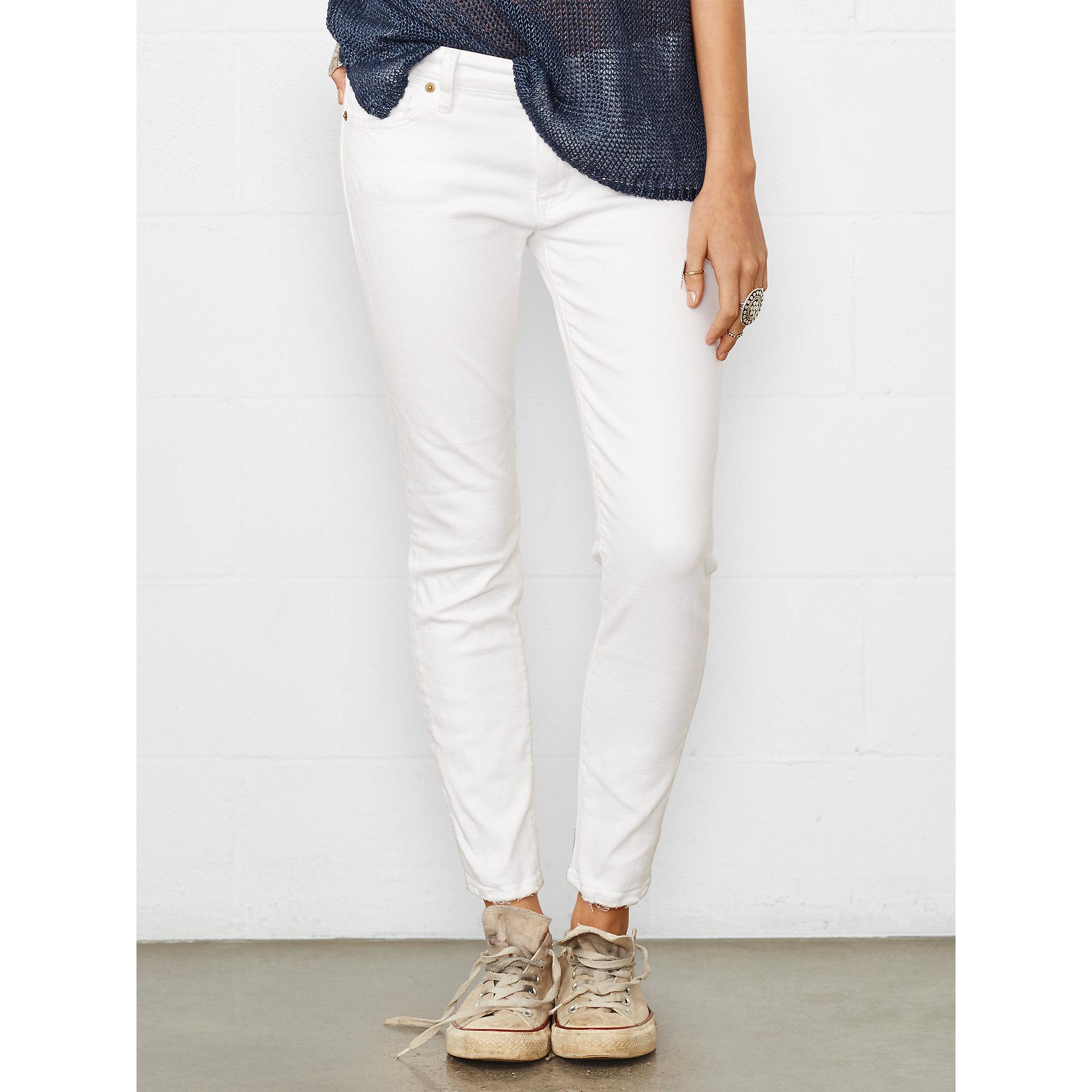 e062b06366 Denim & Supply Ralph Lauren White Carmen Cropped Skinny Jean
