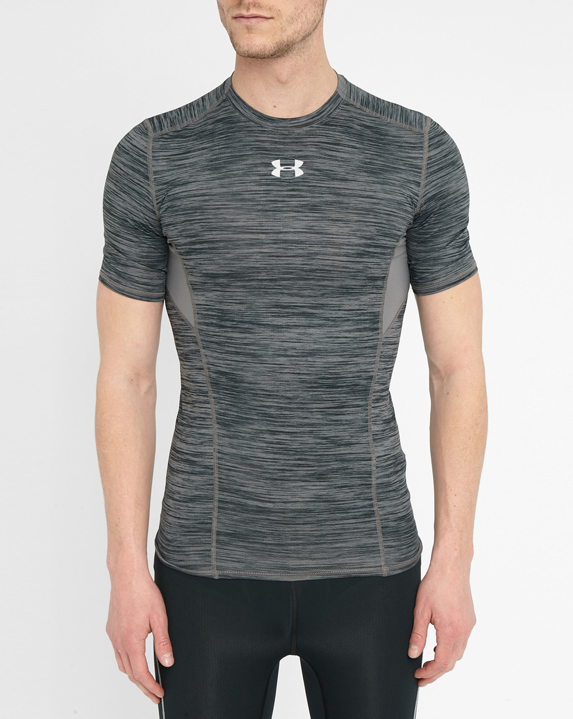Under Armour Grey Coolswitch Compression T Shirt In Gray