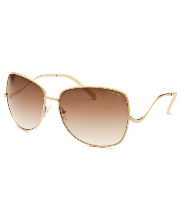Kenneth Cole Reaction Womens Square Gold Sunglasses in Metallic - Lyst 4399dbb7e8