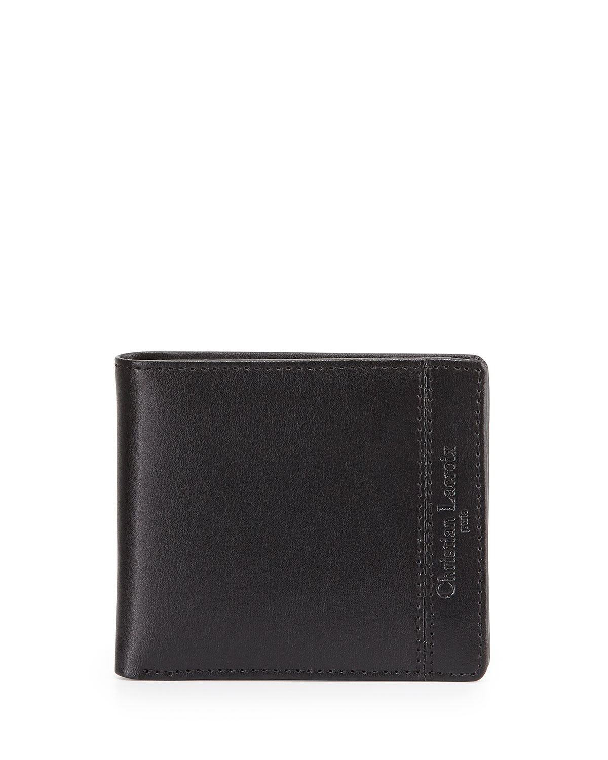 lyst christian lacroix hipster bifold leather wallet in