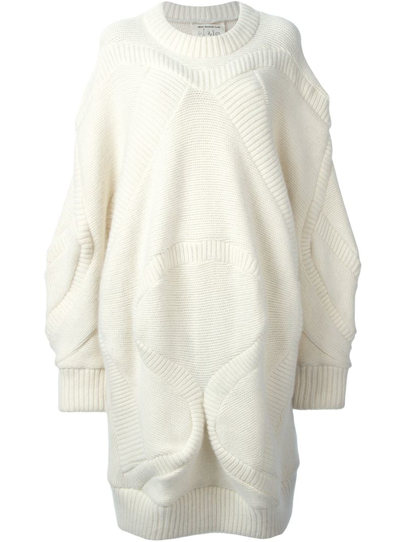 Henrik vibskov 'knit Rider' Oversized Sweater in White | Lyst
