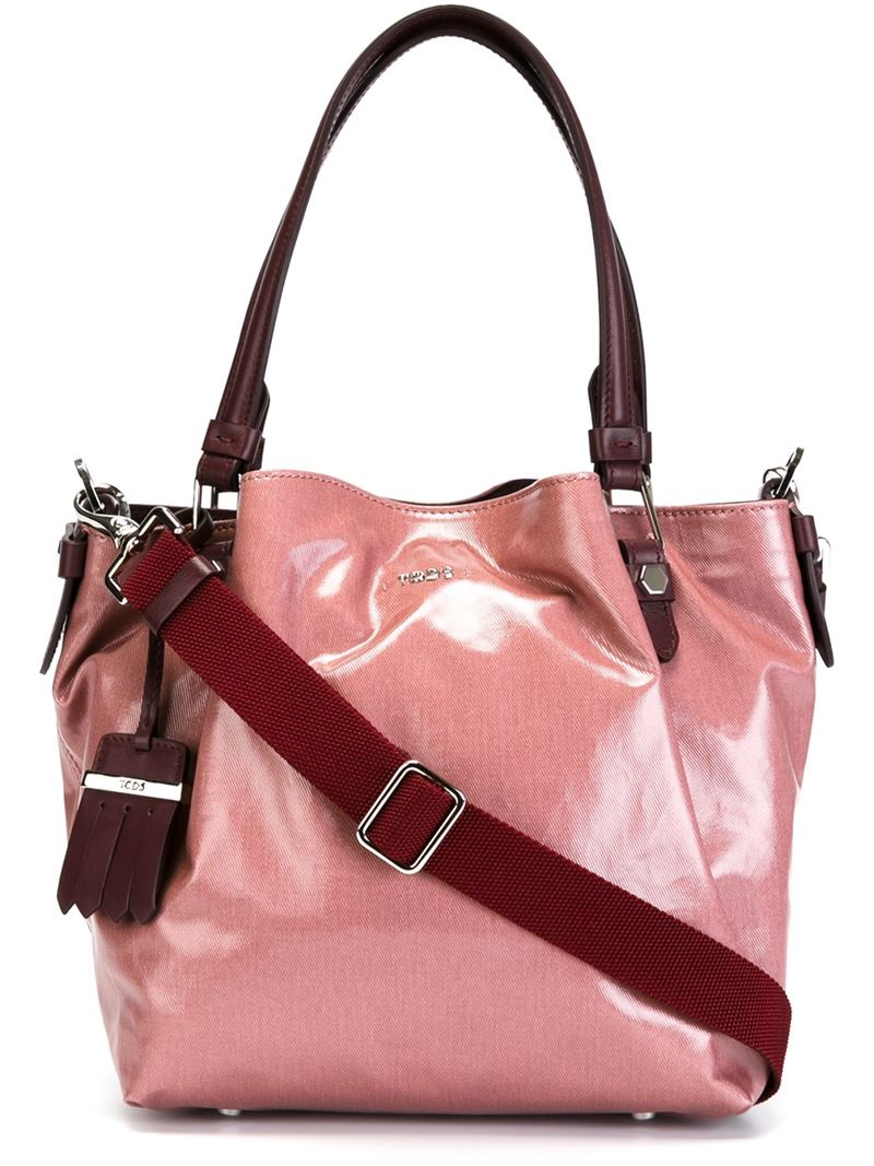 99bc2fe7d4 Tod's Medium 'flower' Tote in Pink - Lyst