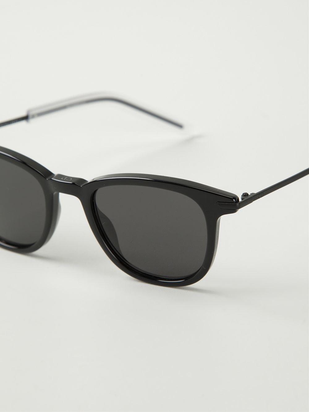 Dior Homme Black Wayfarer Frame Sunglasses for Men Lyst