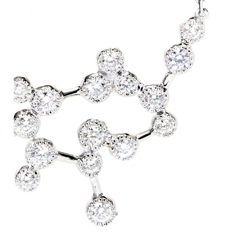 Stone Love Is In The Air 18kt White Gold Necklace With Diamonds in Metallic