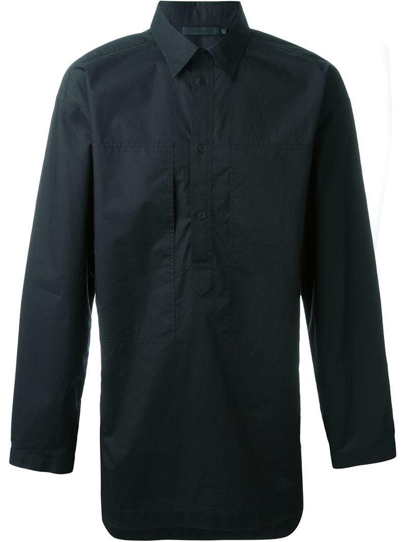 alexander wang oversized shirt in black for men save 60 lyst. Black Bedroom Furniture Sets. Home Design Ideas