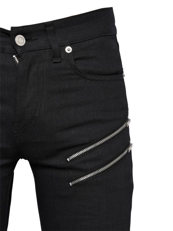 15cm Black Jeans Zip