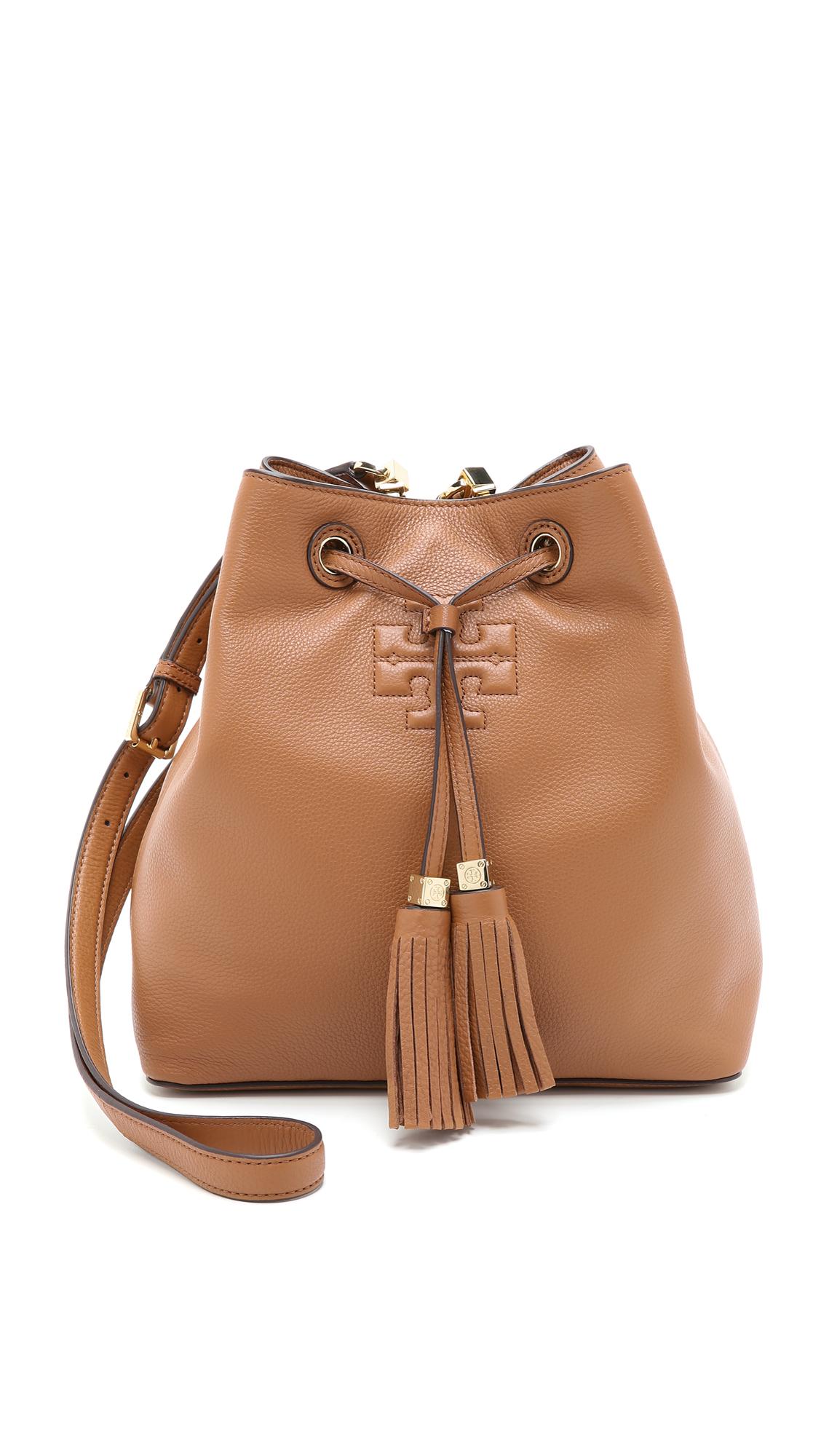 34173f20e594 Tory Burch Thea Bucket Bag - Bark in Brown - Lyst