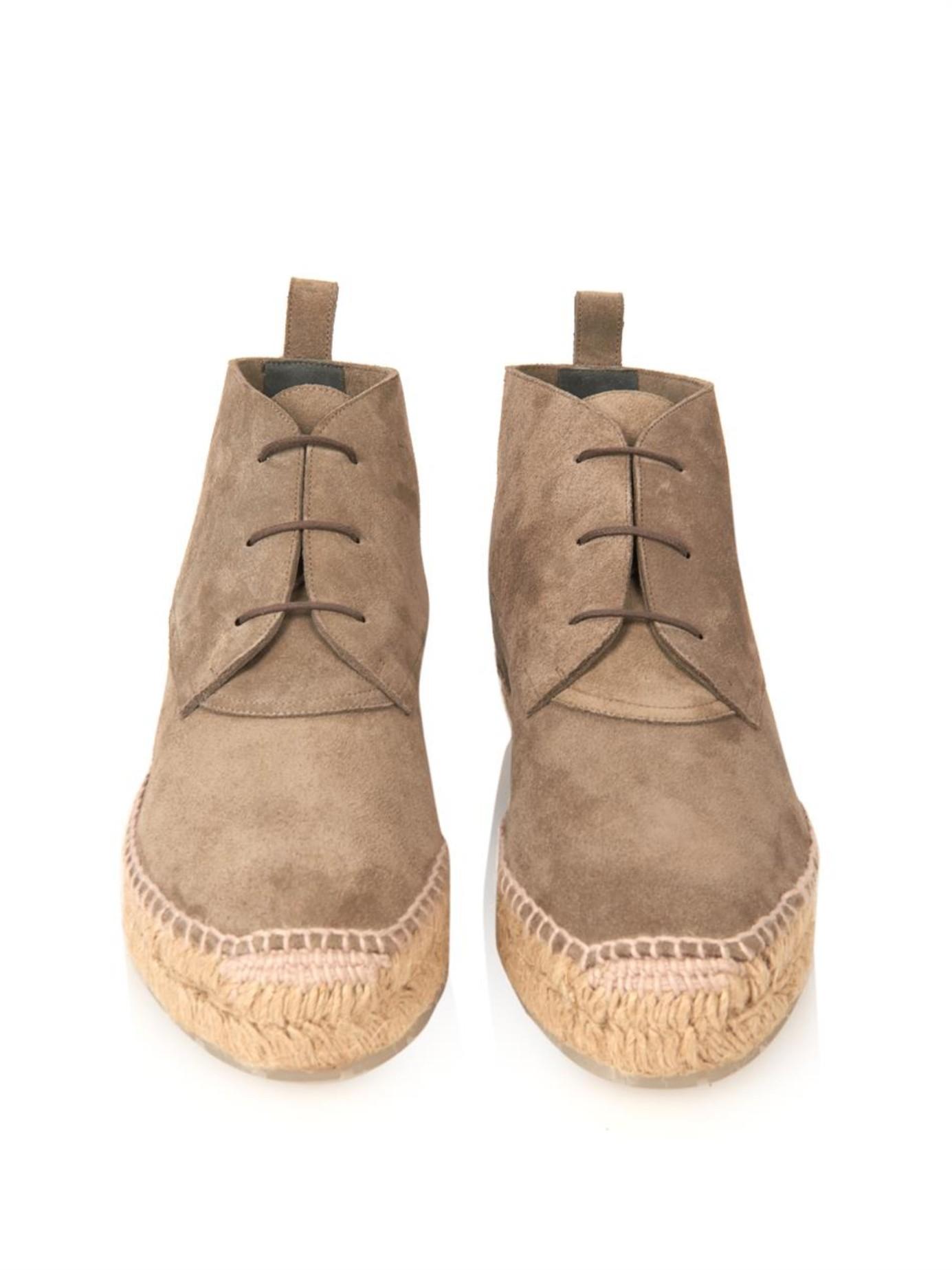 Lyst - Balenciaga Suede Desert Boots in Gray