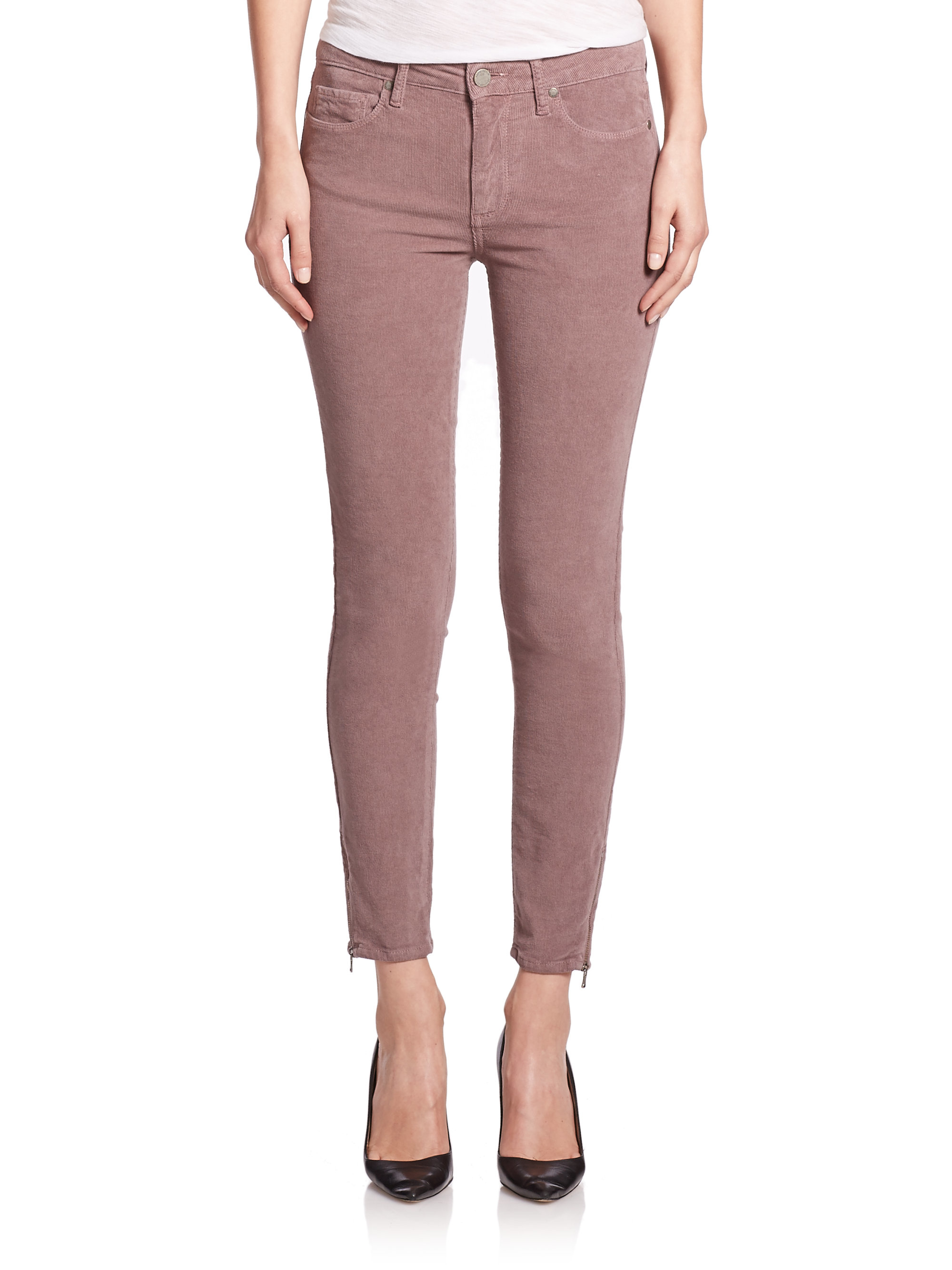 Paige Hoxton High-rise Corduroy Skinny Jeans in Purple | Lyst