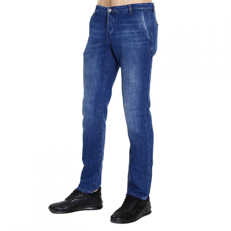 lyst iceberg jeans slant pocket denim in blue for men