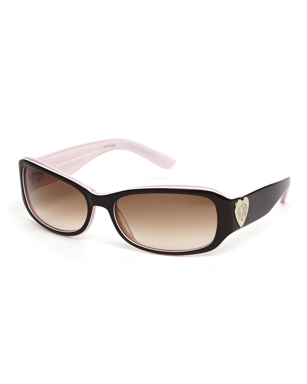 366ef80f7c Lyst - Juicy Couture Brown Christy Rectangular Sunglasses in Brown