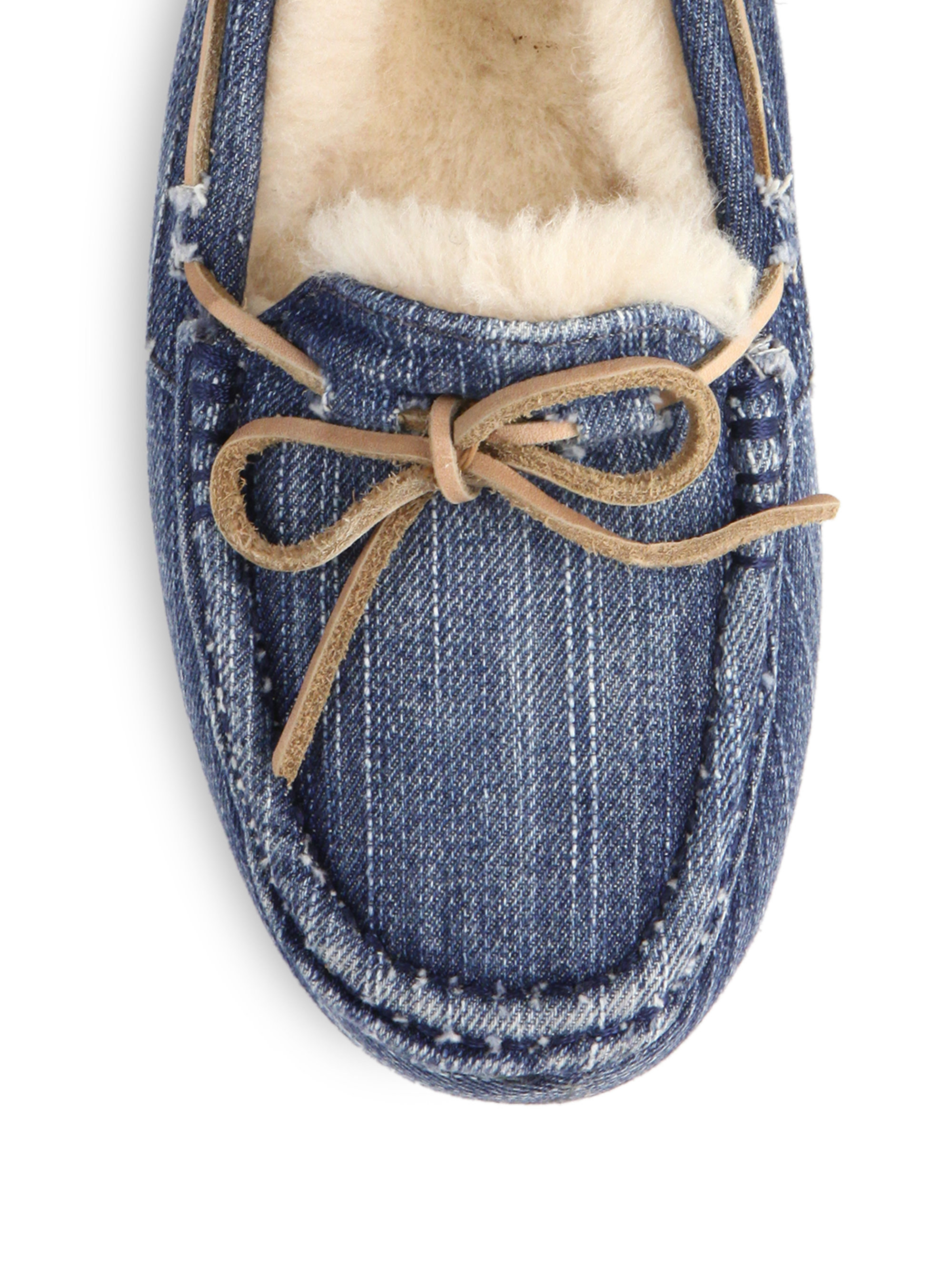 Lyst Ugg Dakota Denim Sandblast Slippers In Blue