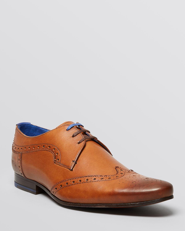 368d9d1049f428 Lyst - Ted Baker Hann Wingtip Oxfords in Brown for Men