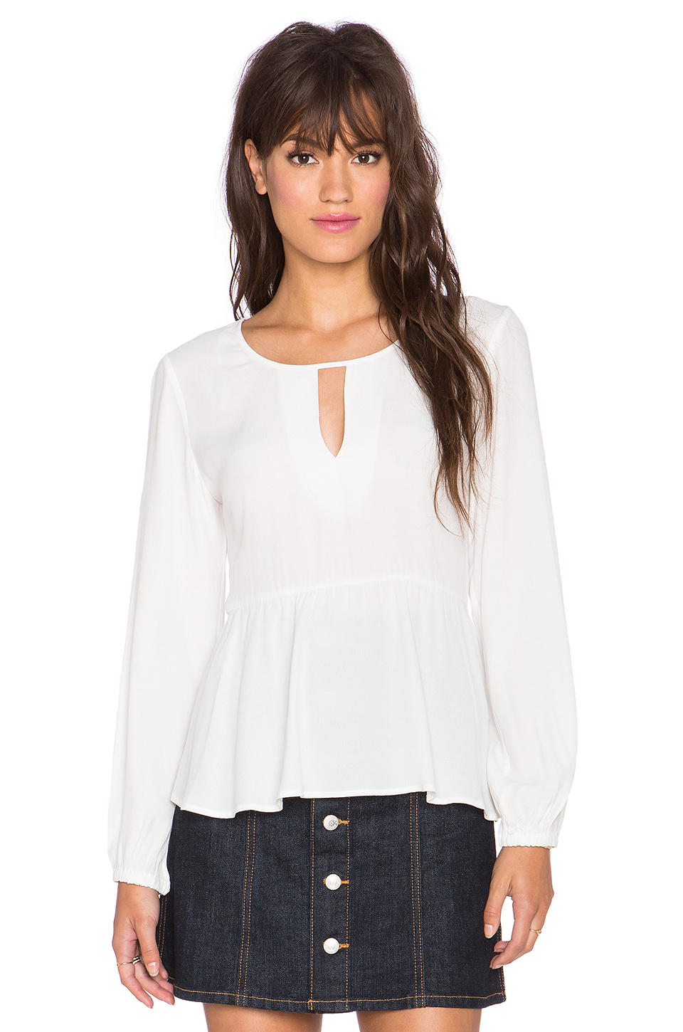 Minkpink Stand By Me Blouse in White