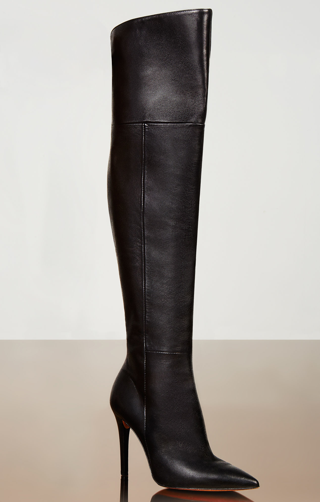 Lyst - BCBGMAXAZRIA Abella High-heel Over-the-knee Leather Boots in ... 42b086685