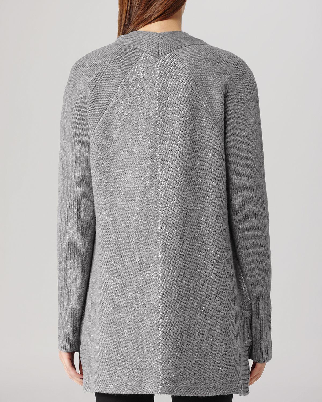 Lyst - Splendid Lurex Rib Cardigan in Gray