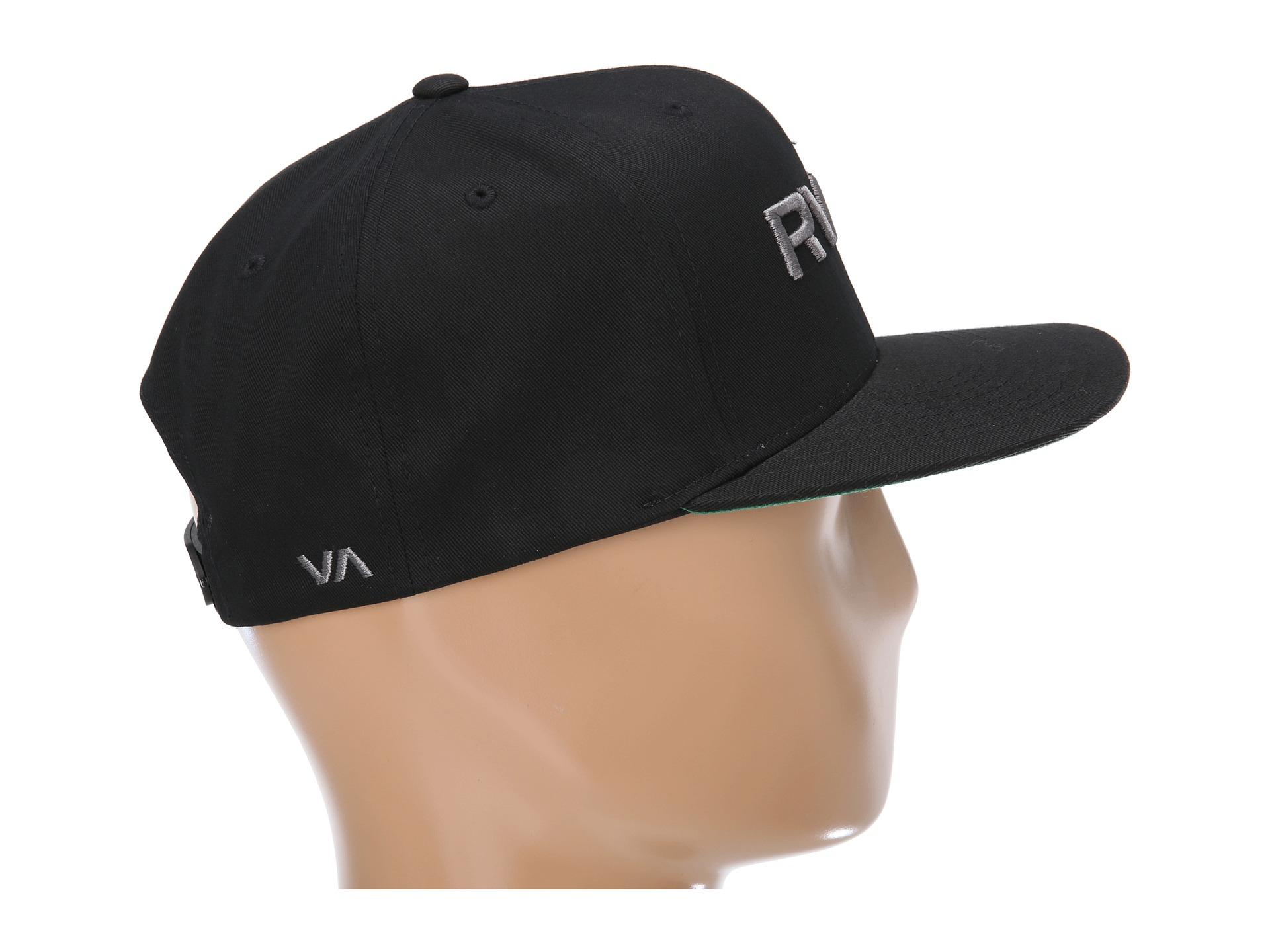 b1d72b1f45f33f ... free shipping lyst rvca twill snapback hat ii in black for men 5ec77  b2759