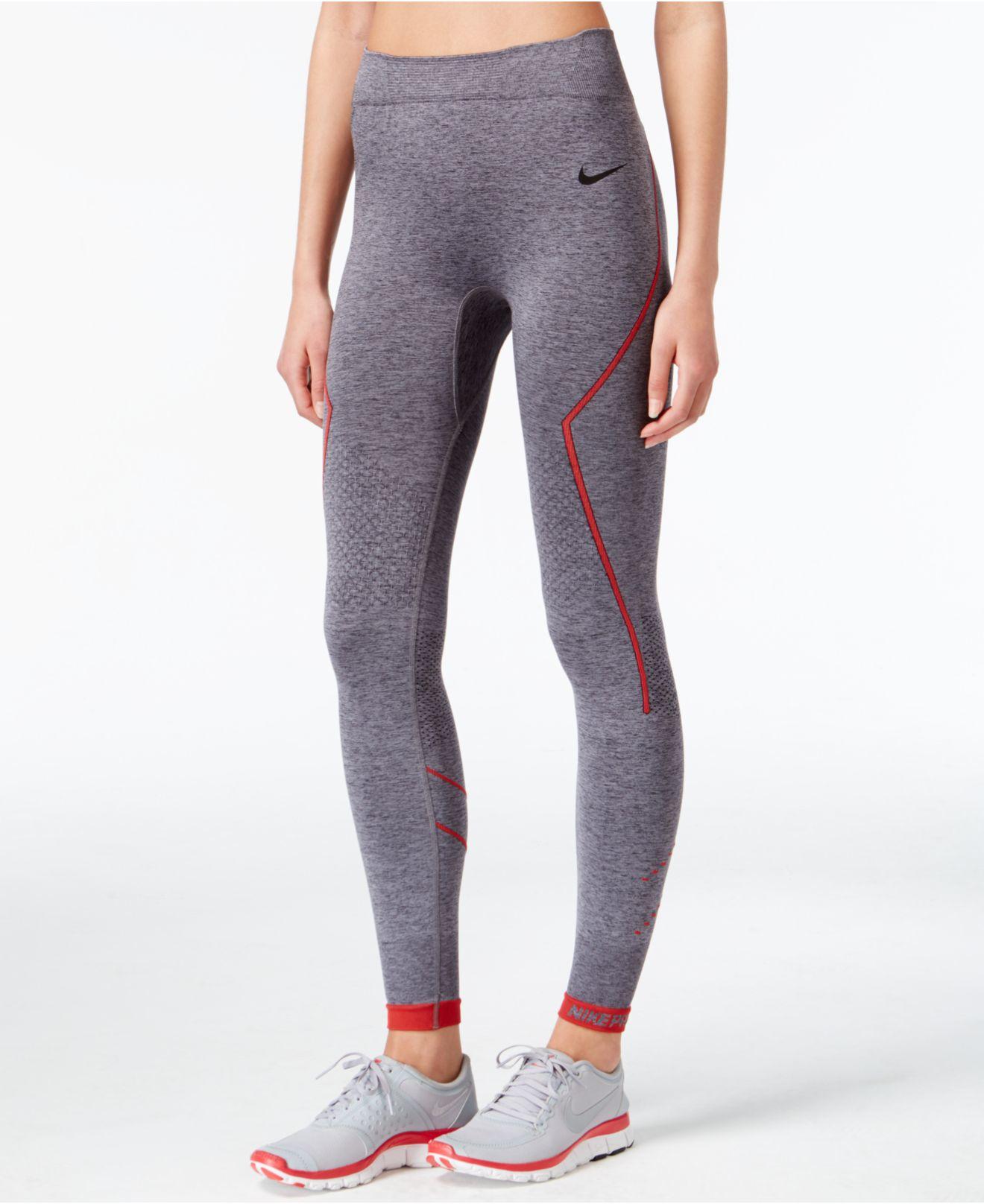 34bf14e50e9a4 ... Lyst - Nike Pro Hyperwarm Limitless Leggings in Black ...