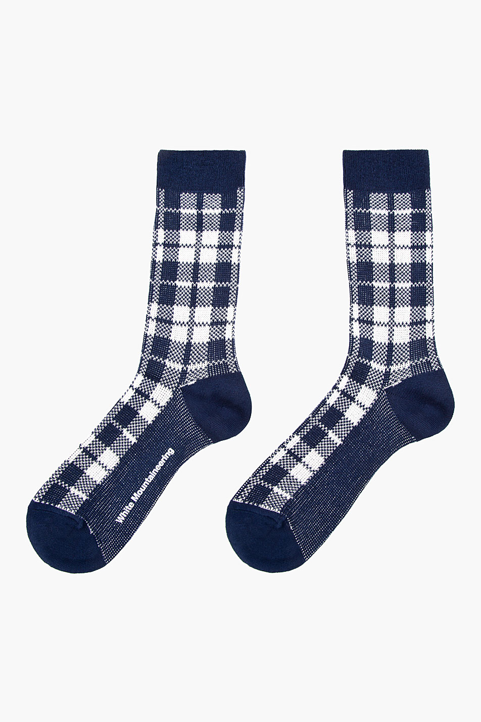 Lyst White Mountaineering Navy Blue And White Plaid