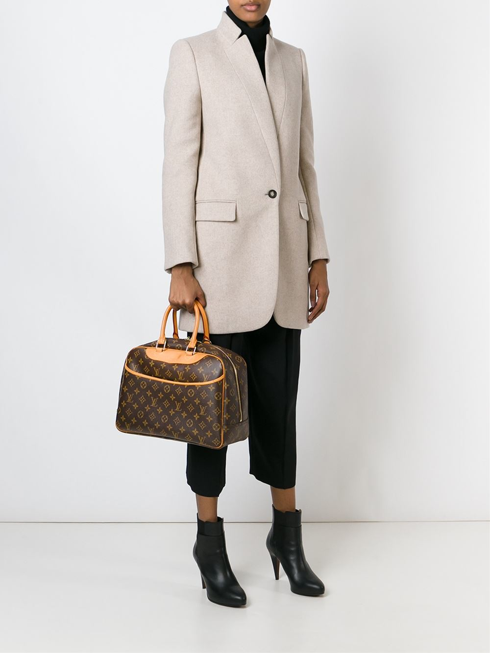 Lyst Louis Vuitton Deauville Luggage Bag In Brown