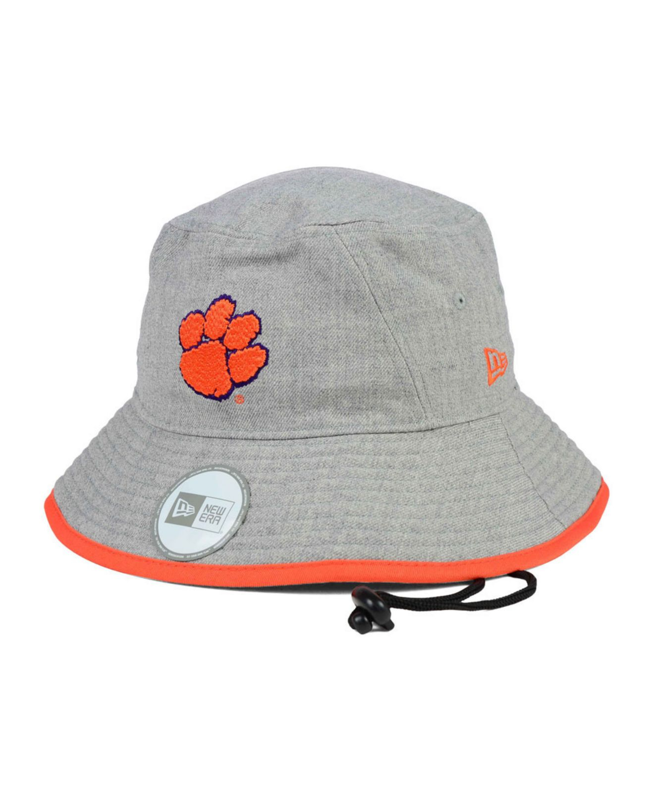 5e37b8f75c9 ... good lyst ktz clemson tigers tip bucket hat in orange for men c29ec  6316d