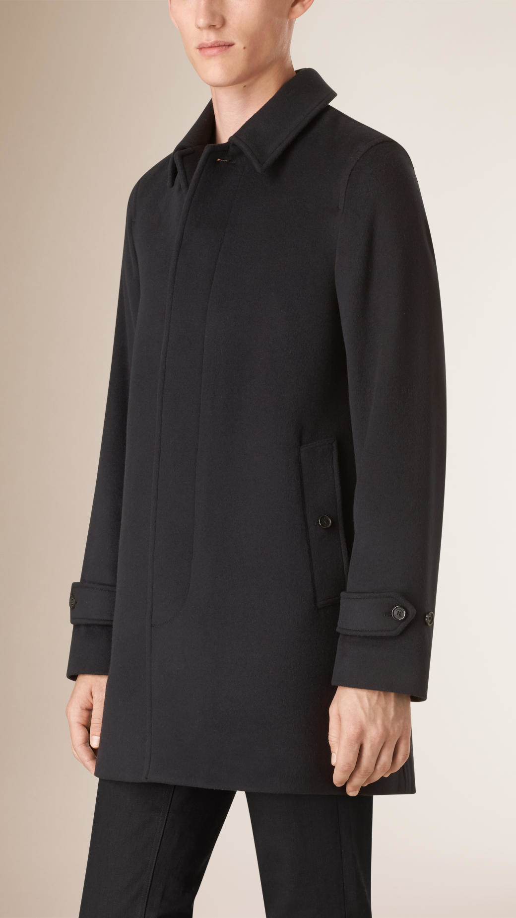 Burberry Wool Cashmere Car Coat in Blue for Men | Lyst