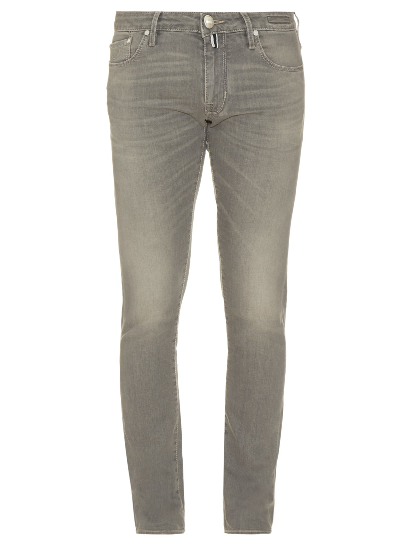 Lyst - Jacob Cohen Tailored Stretch-denim Jeans in Gray ...