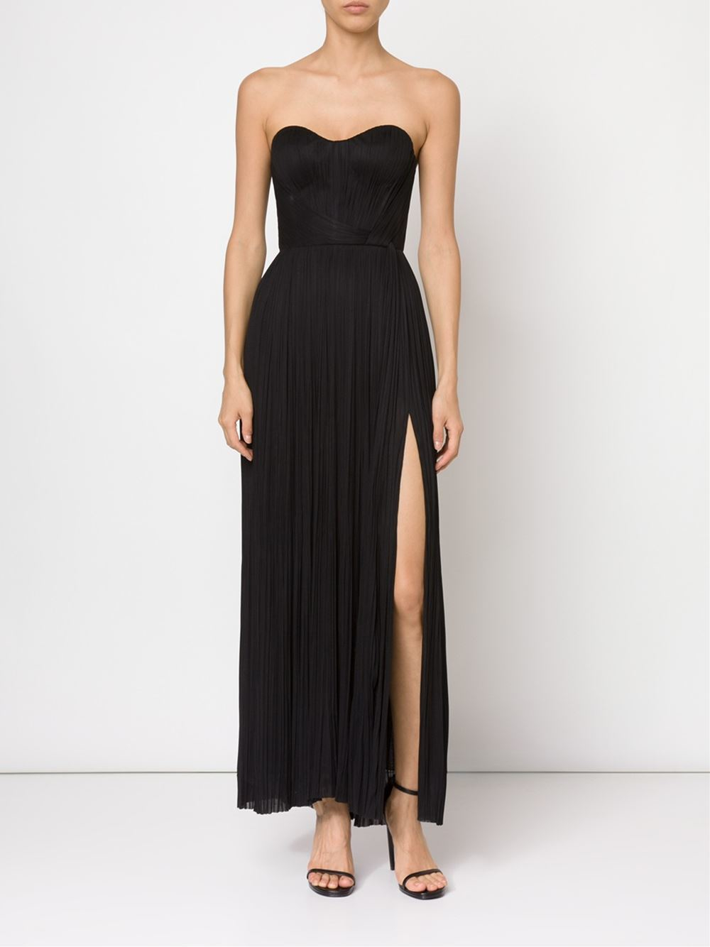 Lyst - Maria lucia hohan Strapless Bustier Evening Dress in Black