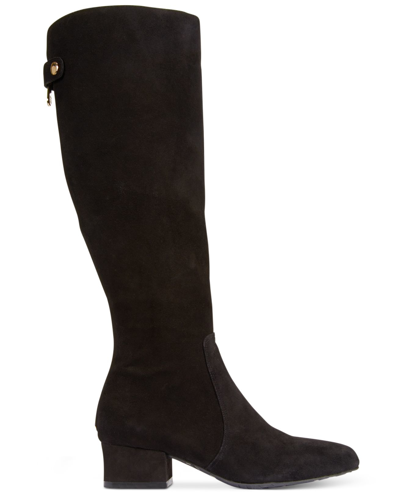 Anne Klein Black Suede Shoes