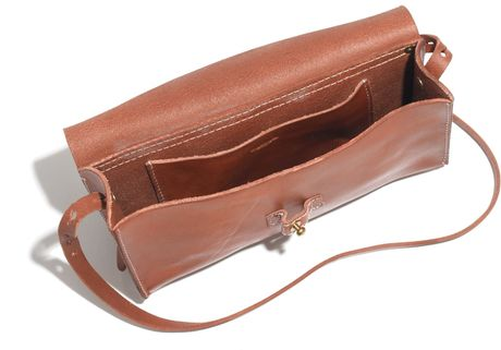 Madewell The Dover Crossbody In Brown Burnished Caramel
