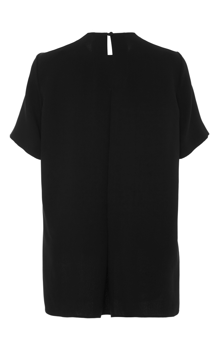 Adam lippes short sleeve t shirt with back pleat detail in for Adam lippes t shirt