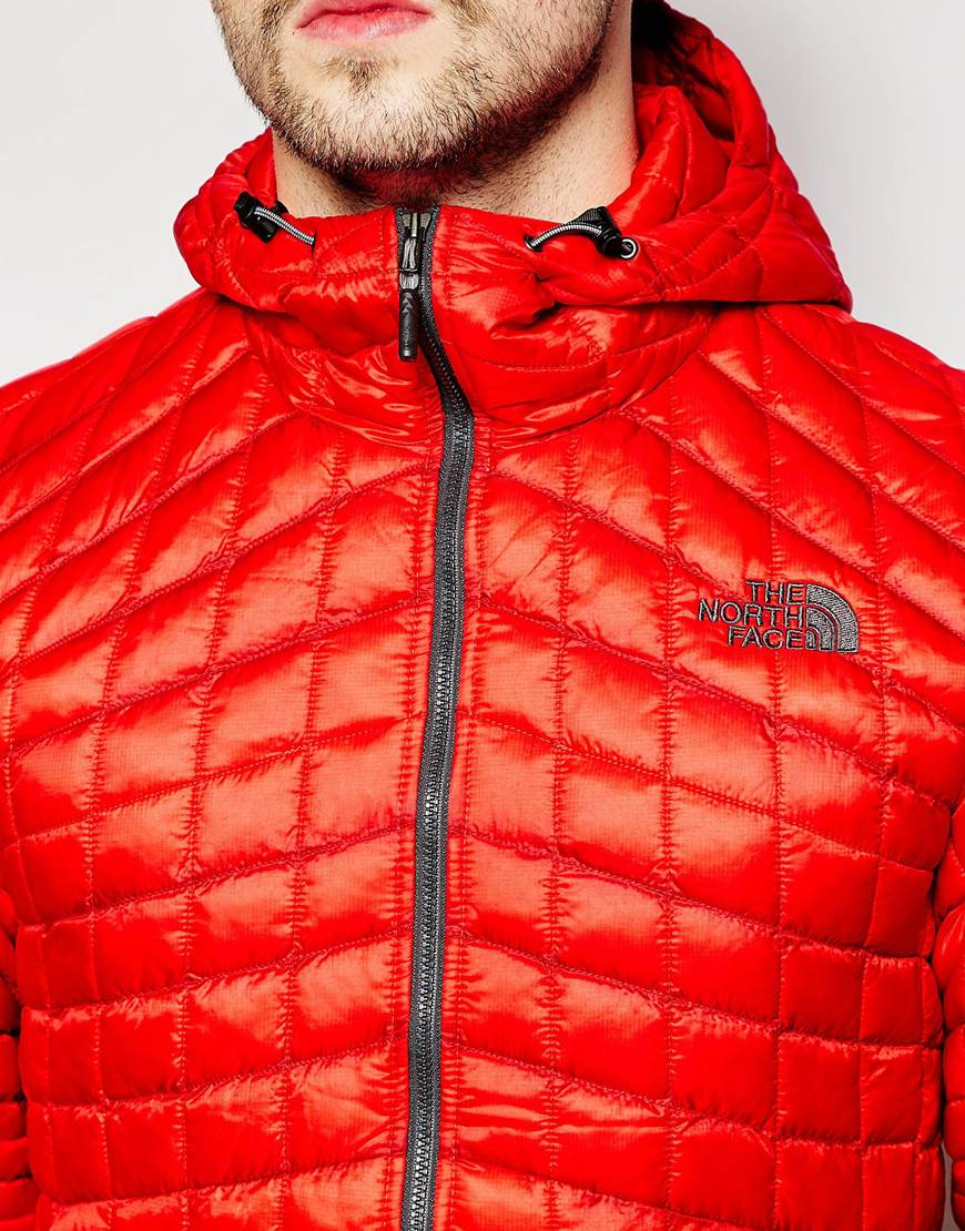 3ad0ad2fe The North Face Red Thermoball Jacket With Hood for men