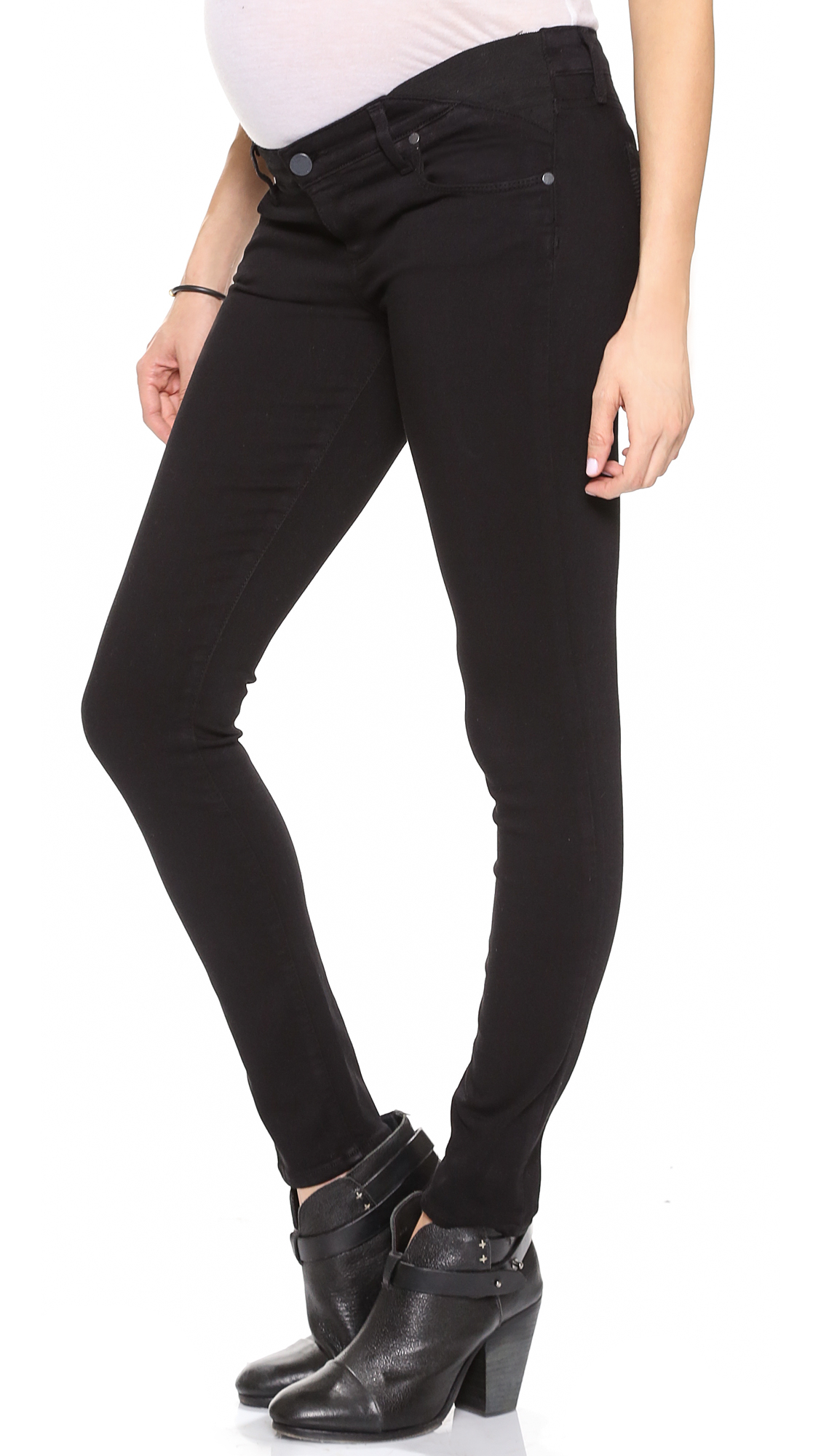 cf64e036f2280 PAIGE Verdugo Ultra Skinny Maternity Jeans - Black Overdye in Black ...