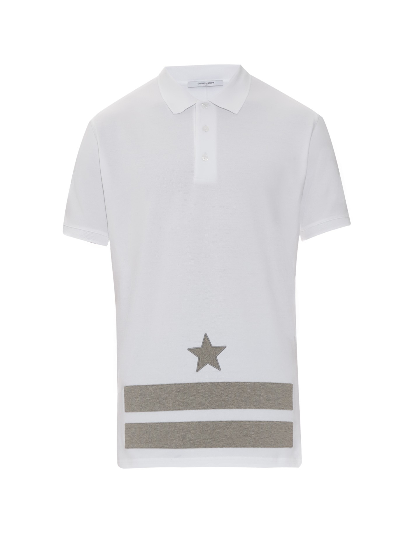 Lyst Givenchy Columbian Fit Star Embroidered Polo Shirt In White