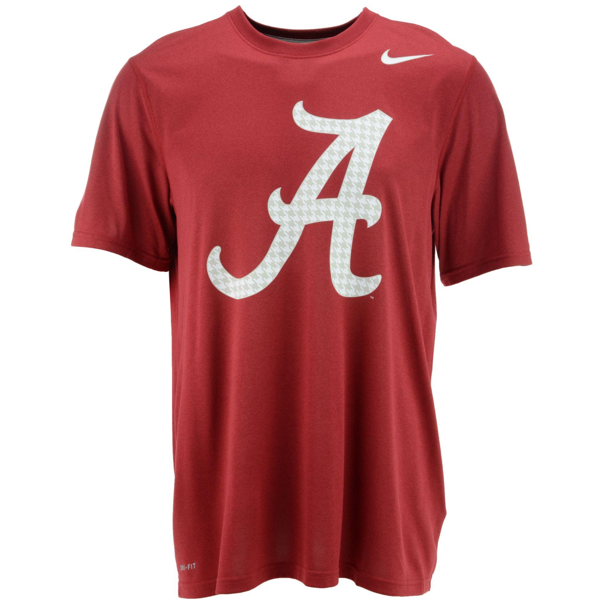 Nike mens shortsleeve alabama crimson tide hyper legend for Alabama crimson tide tee shirts