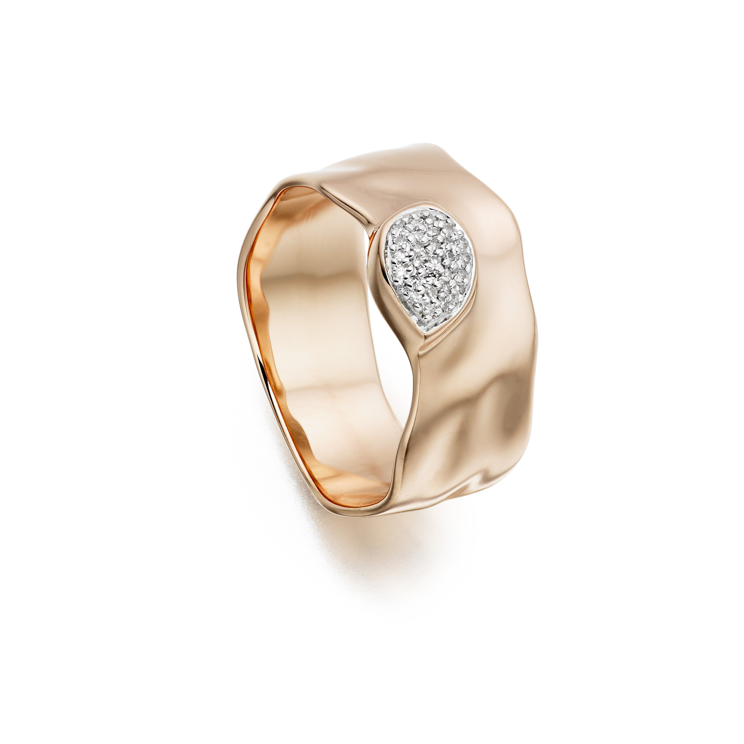vinader siren wide band ring in pink lyst