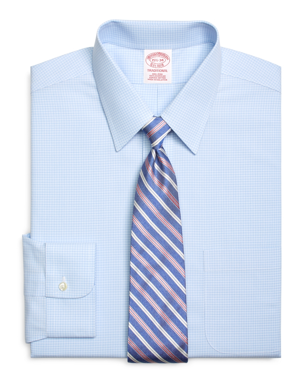 Brooks brothers non iron traditional fit bb 10 check dress for Brooks brothers dress shirt fit