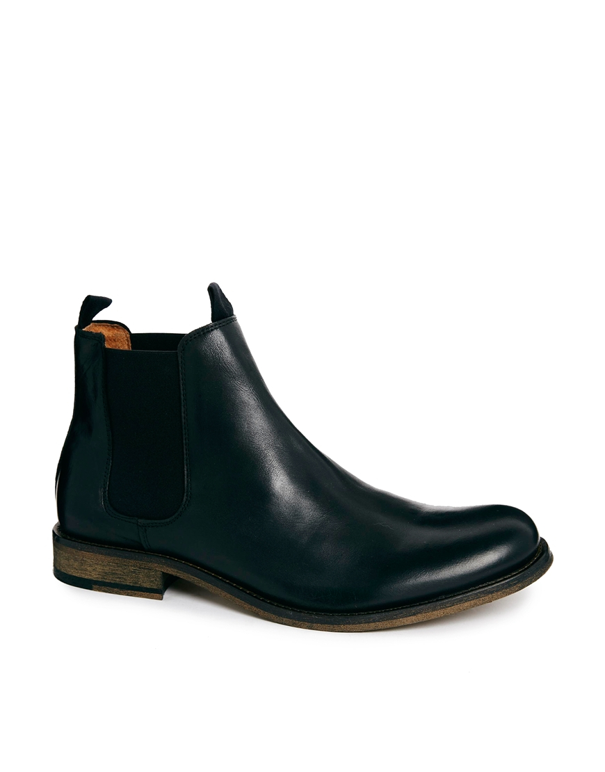 selected homme melvin chelsea boots in black for men lyst. Black Bedroom Furniture Sets. Home Design Ideas