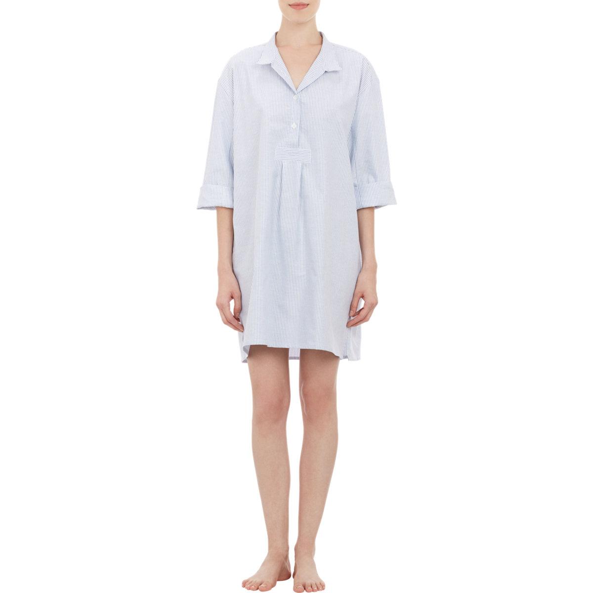 The Sleep Shirt Oversized Sleep Shirt In Blue Lyst