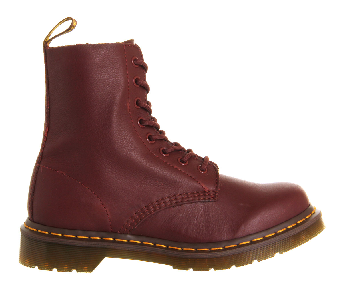 Dr Martens Leather Made In England Boots In Red Cherry