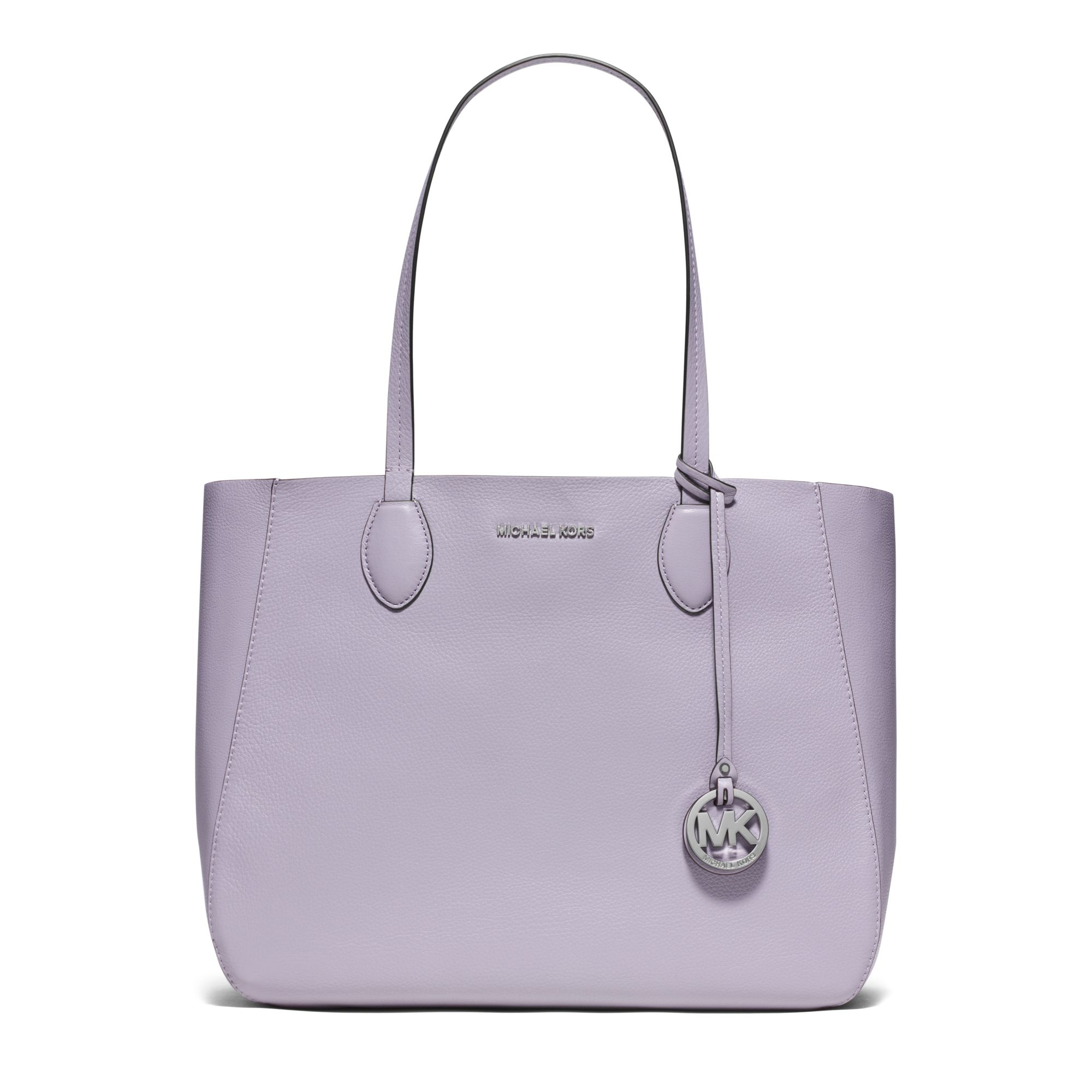 Michael Kors Mae Soft Leather Carryall Tote In Purple Lyst