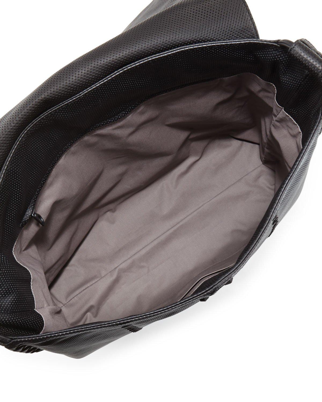 Lyst - Bottega Veneta Cabriolet Men s Perforated Leather Messenger ... b404b81ce642b