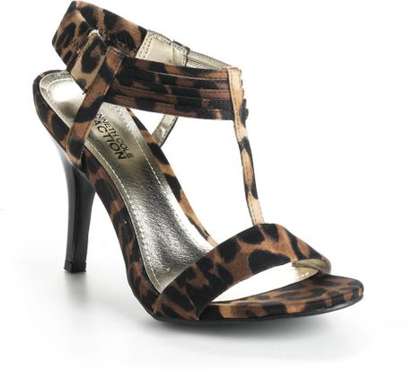 Kenneth Cole Reaction Know Way Leopard Print T Strap