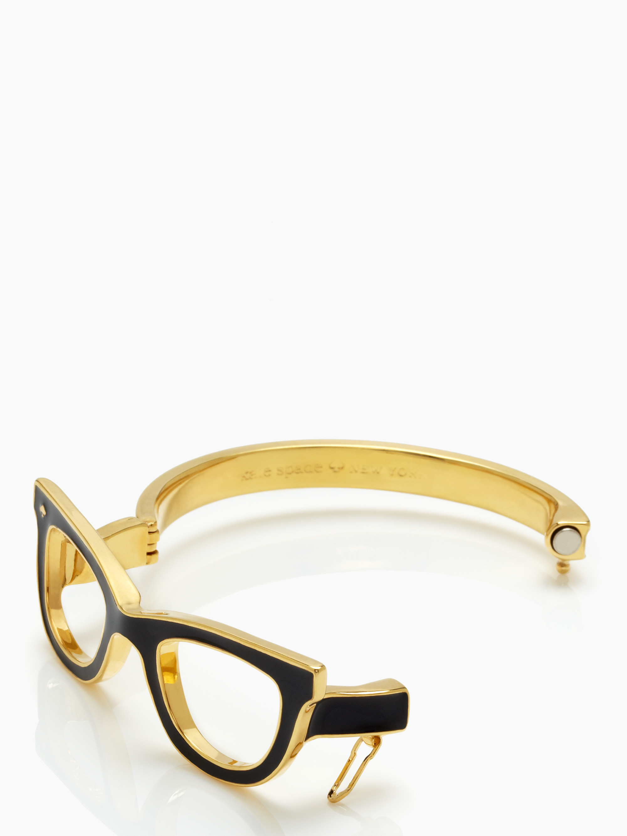Lyst Kate Spade New York Lookout Glasses Bangle In Metallic