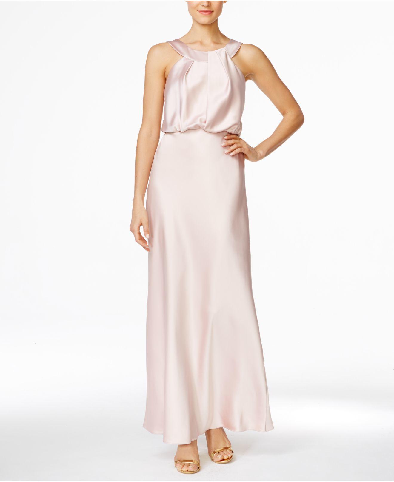 Lyst - Calvin Klein Blouson Satin Gown in Pink c105a2089