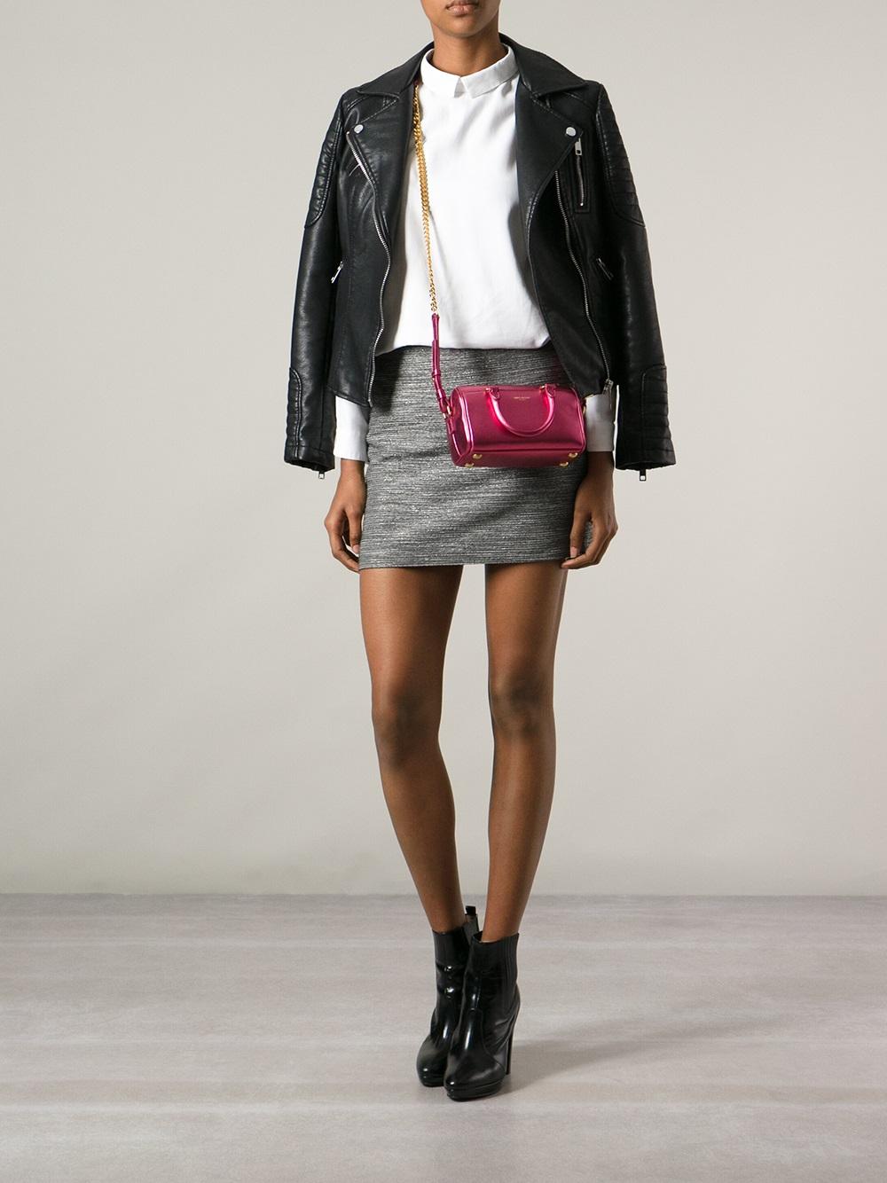 f9675913da0 Saint Laurent Mini Duffle Bag in Pink - Lyst
