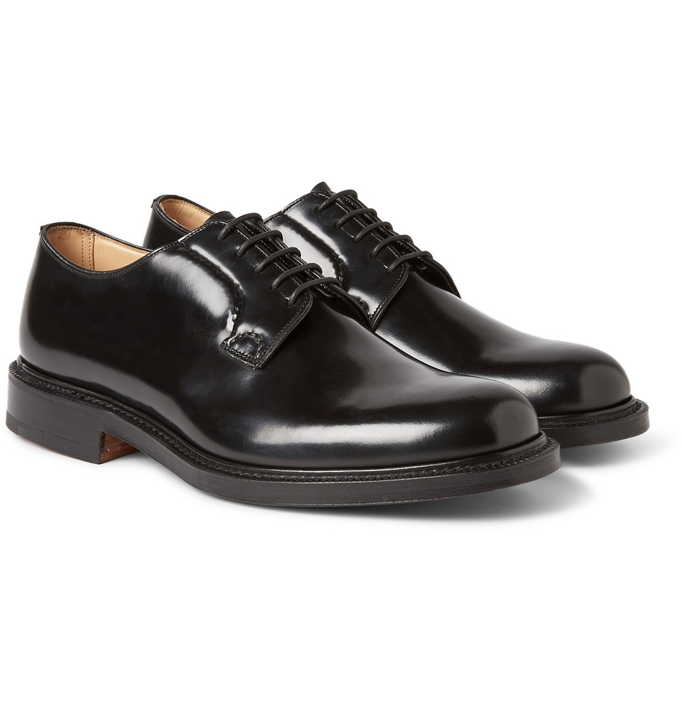 church s shannon leather derby shoes in black for lyst