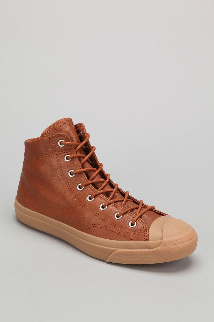 d2dcc9ab1f5d ... best price lyst converse jack purcell mid top leather sneaker in brown  for men 95abd 2670d