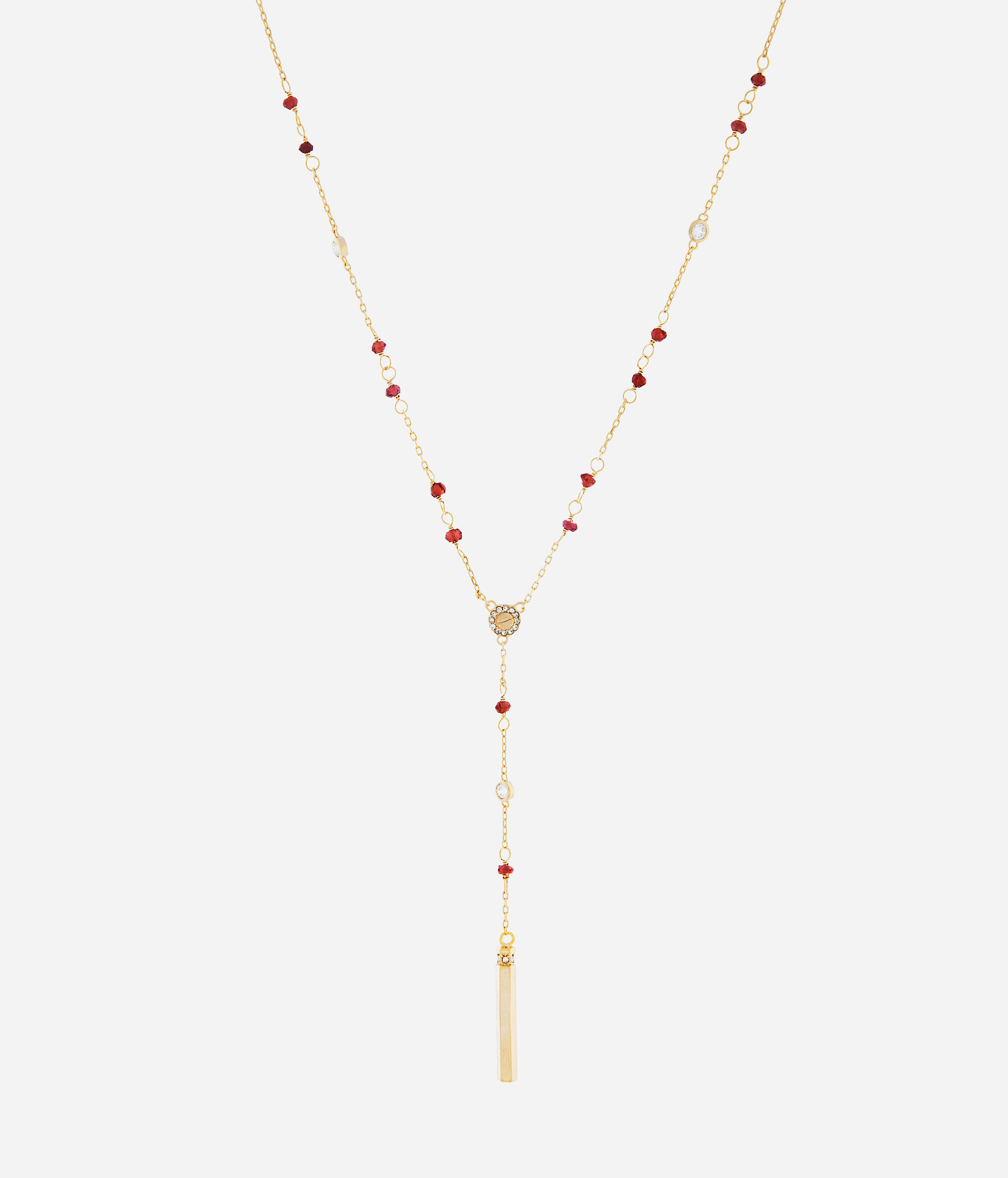 Lyst Henri Bendel Luxe Beaded Y Necklace In Red