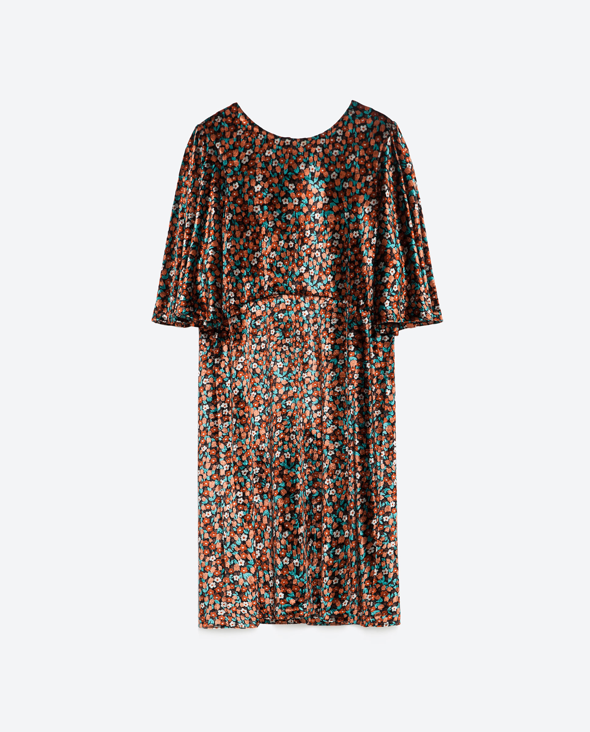 Zara Velvet Dress in Black | Lyst